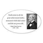 Ralph Waldo Emerson 22 Oval Sticker