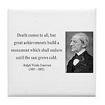 Ralph Waldo Emerson 22 Tile Coaster