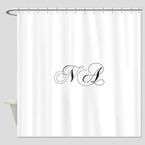 NA-cho black Shower Curtain