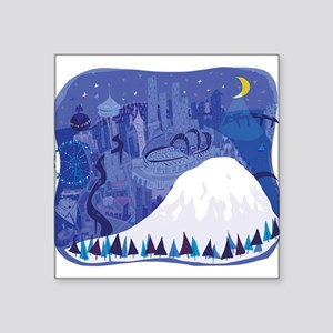 Seattle, condensed, with Mount Rainier Sticker