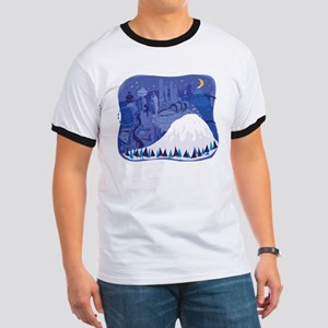 Seattle, condensed, with Mount Rainier T-Shirt