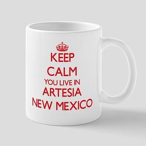 Keep calm you live in Artesia New Mexico Mugs