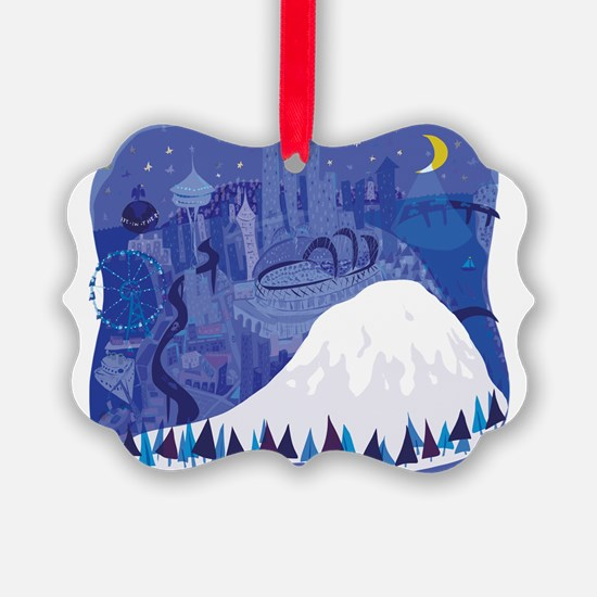 Seattle, condensed, with Mount Ra Ornament