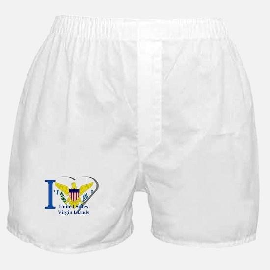 I love Virgin Islands Boxer Shorts