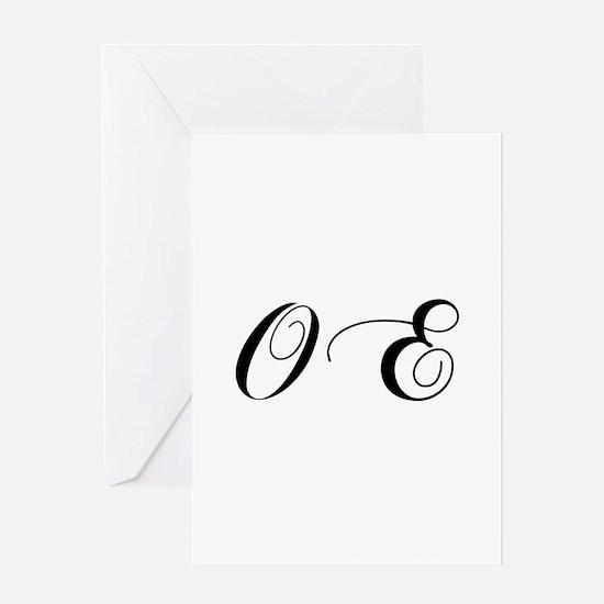 OE-cho black Greeting Cards