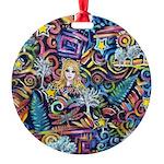 PS-Blondi Round Ornament