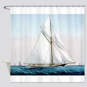 Cutter Yacht Thistle Shower Curtain