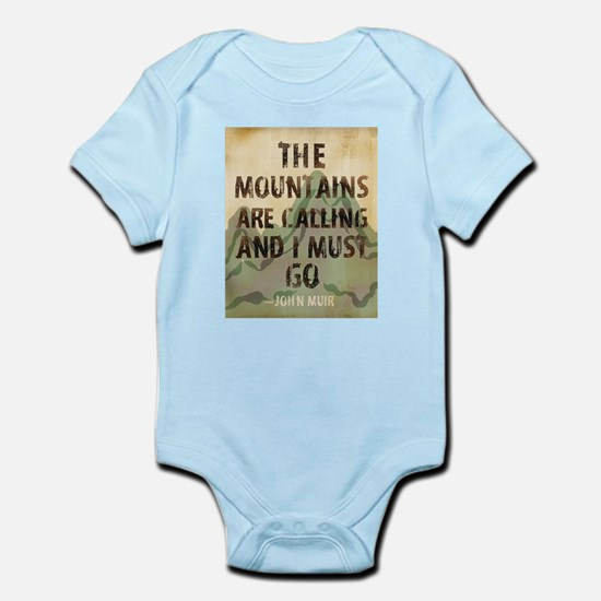 John Muir Mountains Body Suit