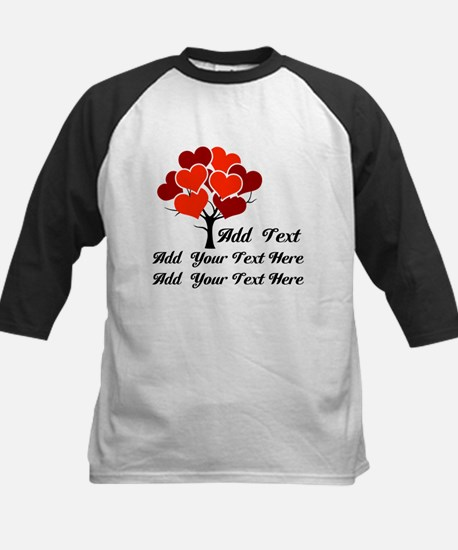 Custom add text Love tree Kids Baseball Jersey
