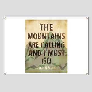 John Muir Mountains Banner