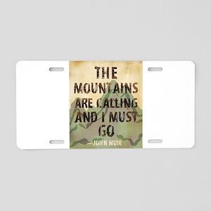 John Muir Mountains Aluminum License Plate