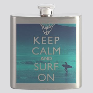 Keep Calm And Surf On Flask