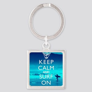 Keep Calm And Surf On Keychains