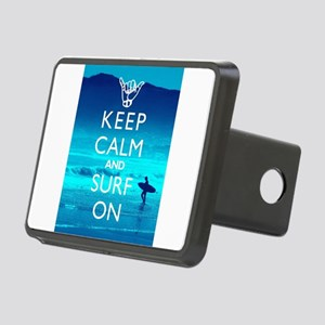 Keep Calm And Surf On Rectangular Hitch Cover