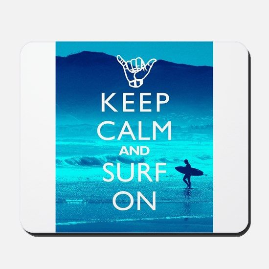 Keep Calm And Surf On Mousepad