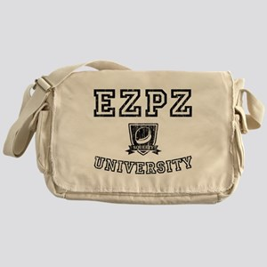 EZPZ Campus Logo Faded Look Black Ty Messenger Bag