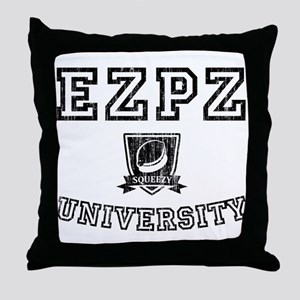 EZPZ Campus Logo Faded Look Black Typ Throw Pillow