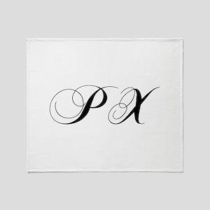 PX-cho black Throw Blanket