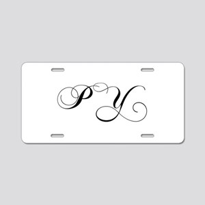 PY-cho black Aluminum License Plate