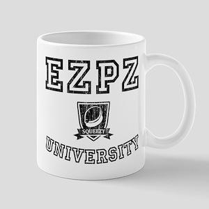 EZPZ Campus Logo Faded Look Black Type Mugs