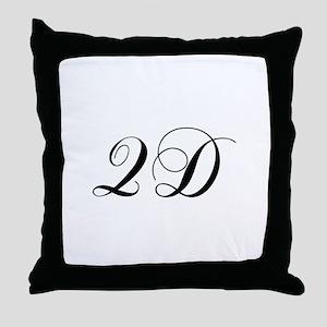 QD-cho black Throw Pillow