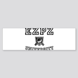EZPZ Campus Logo Faded Look Black T Bumper Sticker