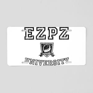 EZPZ Campus Logo Faded Look Aluminum License Plate