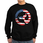 Moby Dick Logo - US Flag Sweatshirt
