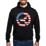 Moby Dick Logo - Us Flag Hoodie Sweatshirt