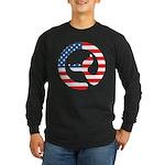 Moby Dick Logo - US Flag Long Sleeve T-Shirt