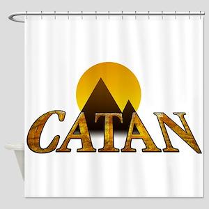 Modern Settlers of Catan Shower Curtain