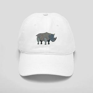 Patchwork Fabric Rhino Cap