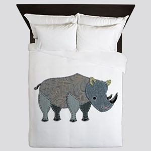 Patchwork Fabric Rhino Queen Duvet