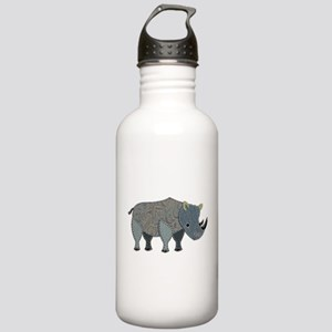 Patchwork Fabric Rhino Stainless Water Bottle 1.0L
