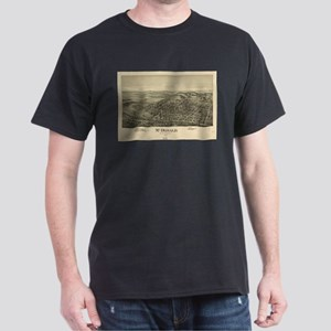 Vintage Pictorial Map of McDonald PA (1897 T-Shirt