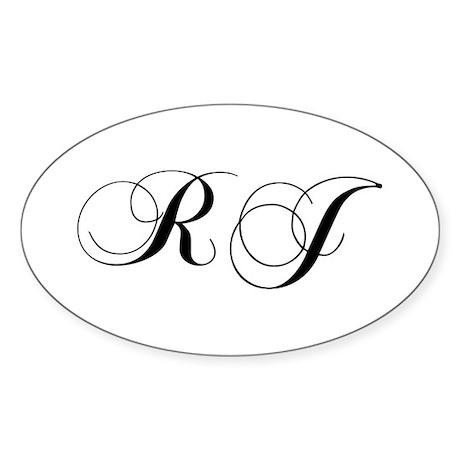 Rj Initials Stickers - CafePress