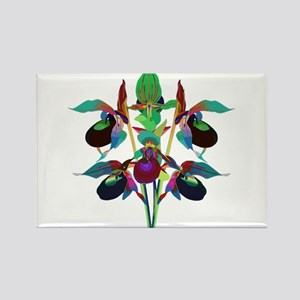 Solarized Purple Lady Slipper Orchids Arra Magnets