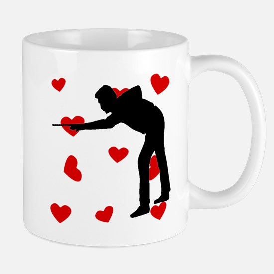 Billiards Hearts Mugs