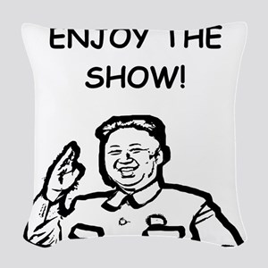 censorship Woven Throw Pillow