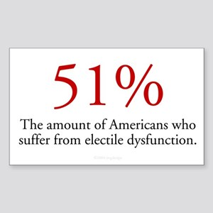 51% Electile Dysfunction Sticker (Rect.)