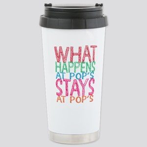 What Happens At Pop's Stainless Steel Travel Mug