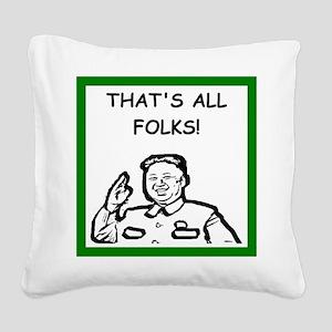 censorship Square Canvas Pillow