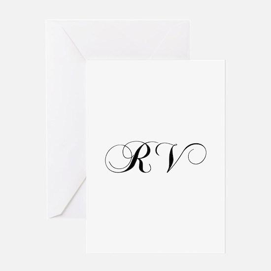 RV-cho black Greeting Cards