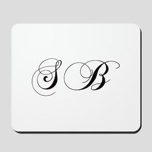 SB-cho black Mousepad