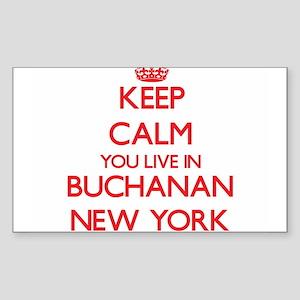 Keep calm you live in Buchanan New York Sticker