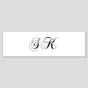 SK-cho black Bumper Sticker