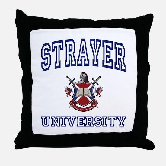 STRAYER University Throw Pillow