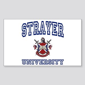 STRAYER University Rectangle Sticker