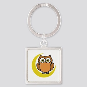 OWL ON MOON APPLIQUE Keychains