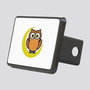OWL ON MOON APPLIQUE Hitch Cover